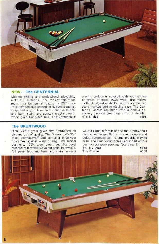 Identify This Ft Brunswick Please - 4 x 8 brunswick pool table