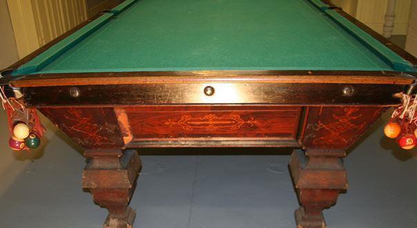 Antique Brunswick Billiard Table