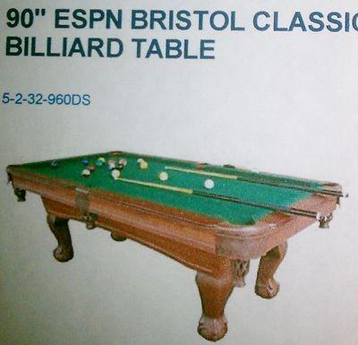 90 Espn Bristol Classic Pool Table