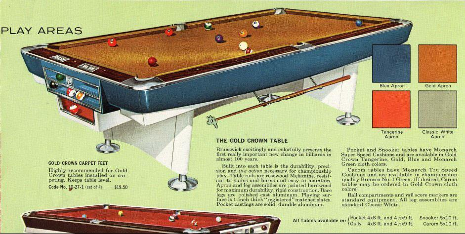 Identify Brunswick Pool Table - 4 x 8 brunswick pool table