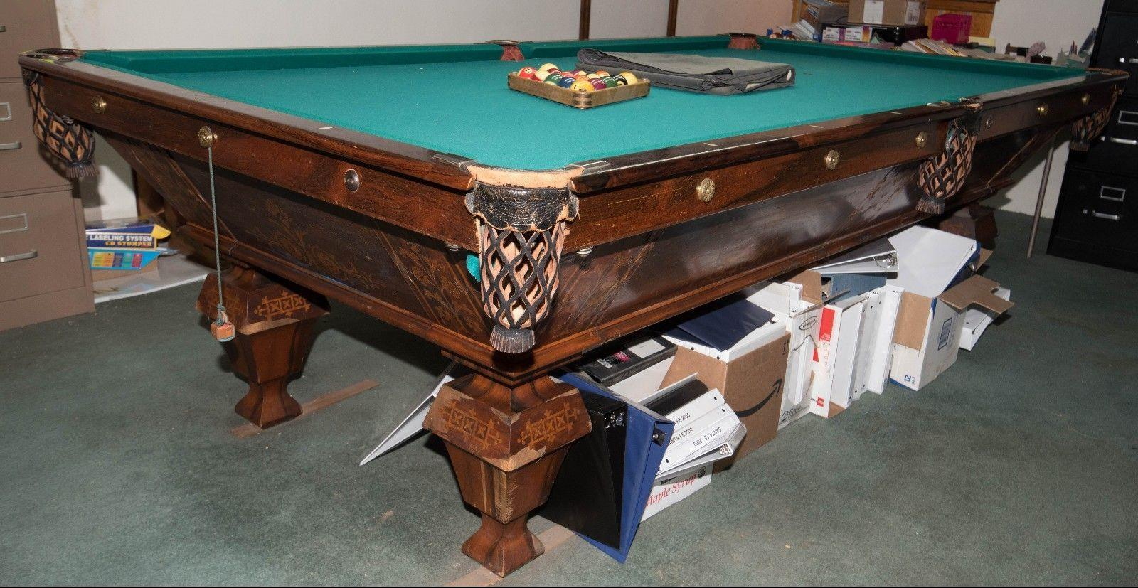 Brunswick Billiard Tables For Sale Ebay >> Identifying Antique Pool Table Brunswick 1895