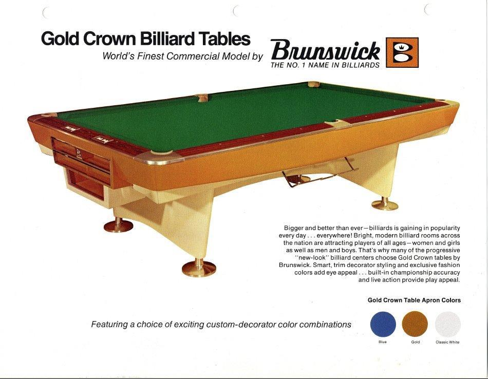 Peachy Is This A Brunswick Gold Crown Pool Table Download Free Architecture Designs Scobabritishbridgeorg