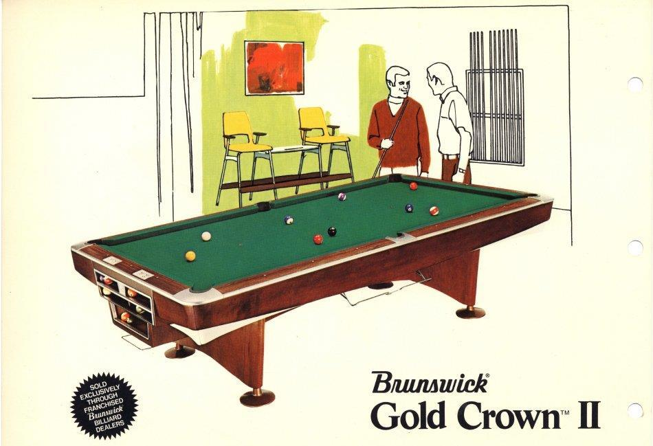 Phenomenal Is This A Brunswick Gold Crown Pool Table Download Free Architecture Designs Scobabritishbridgeorg