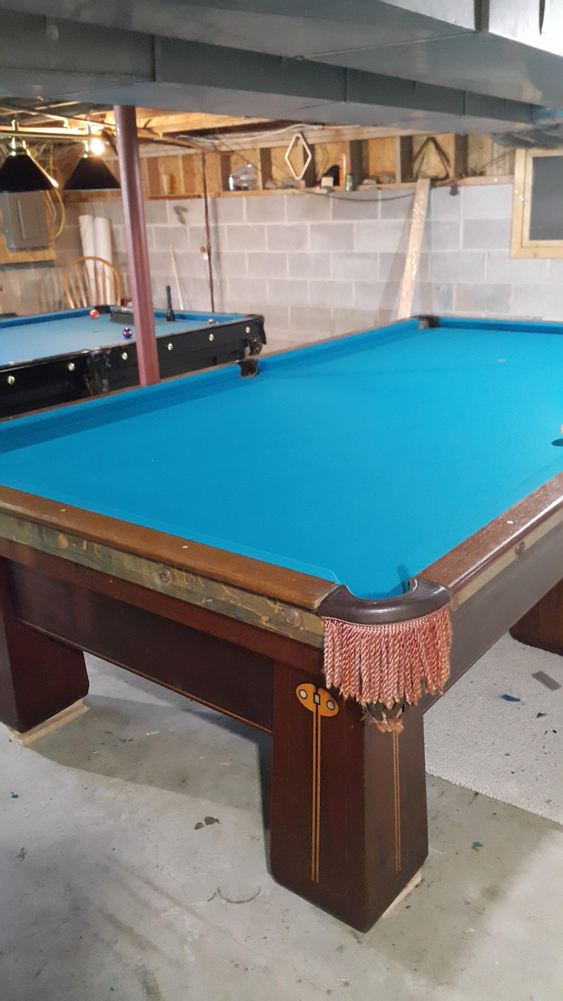 10x5 regina 6 leg brunswick pool table for sale for 10 x 5 snooker table