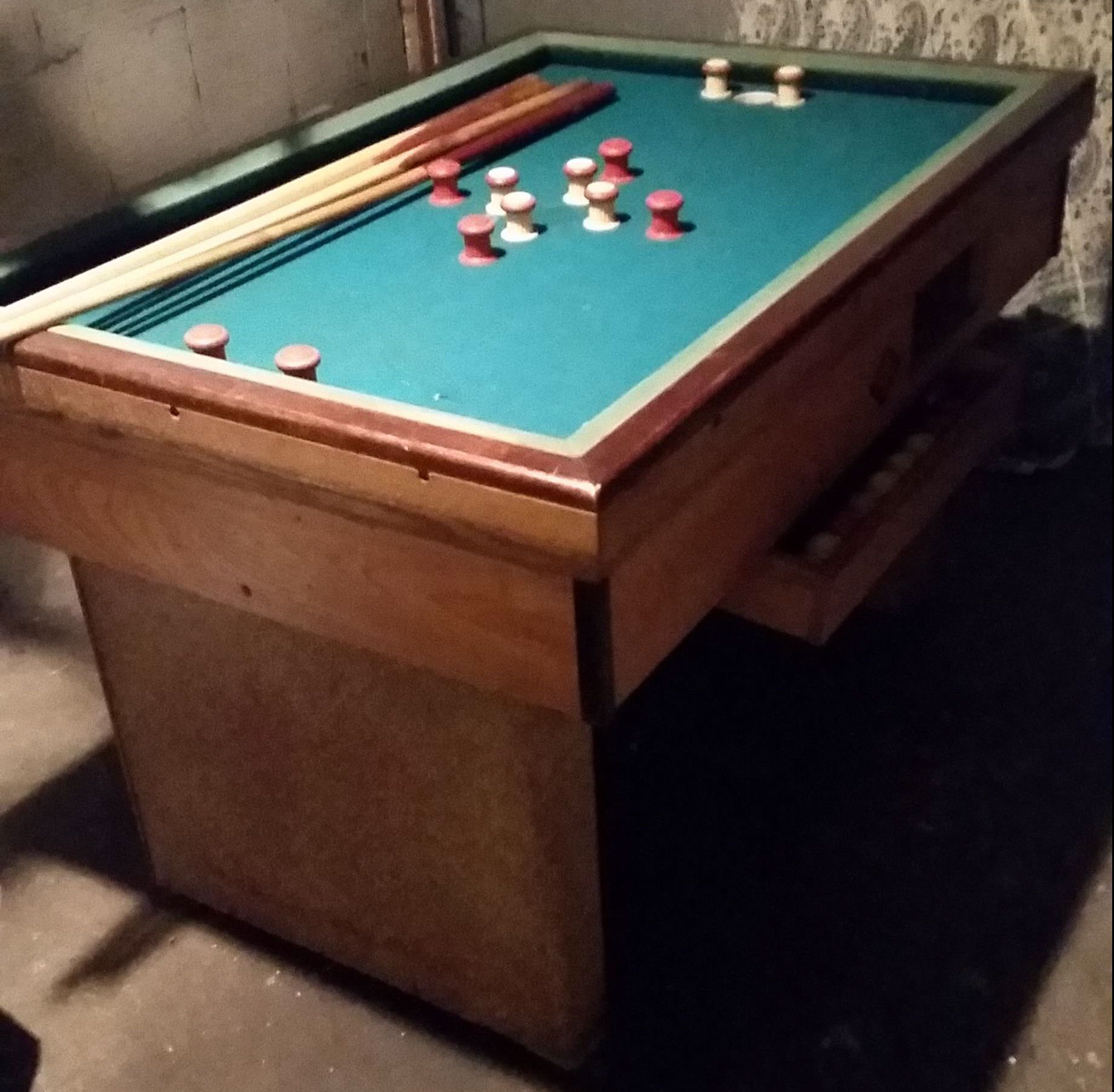 Vintage bumper pool table for sale in chicago il - Bumper pool bumpers ...
