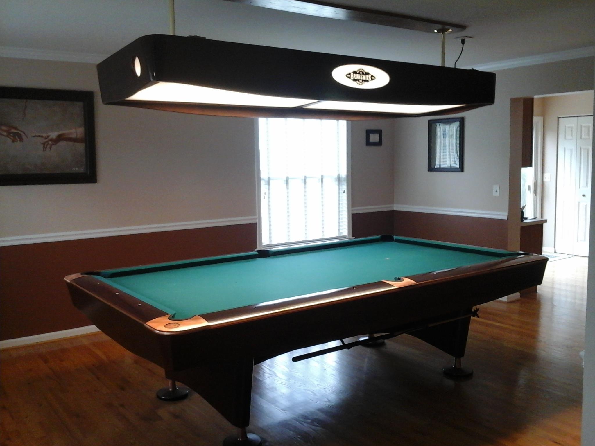 Brunswick gold crown iv billiard table light for sale - Pool table lights ...