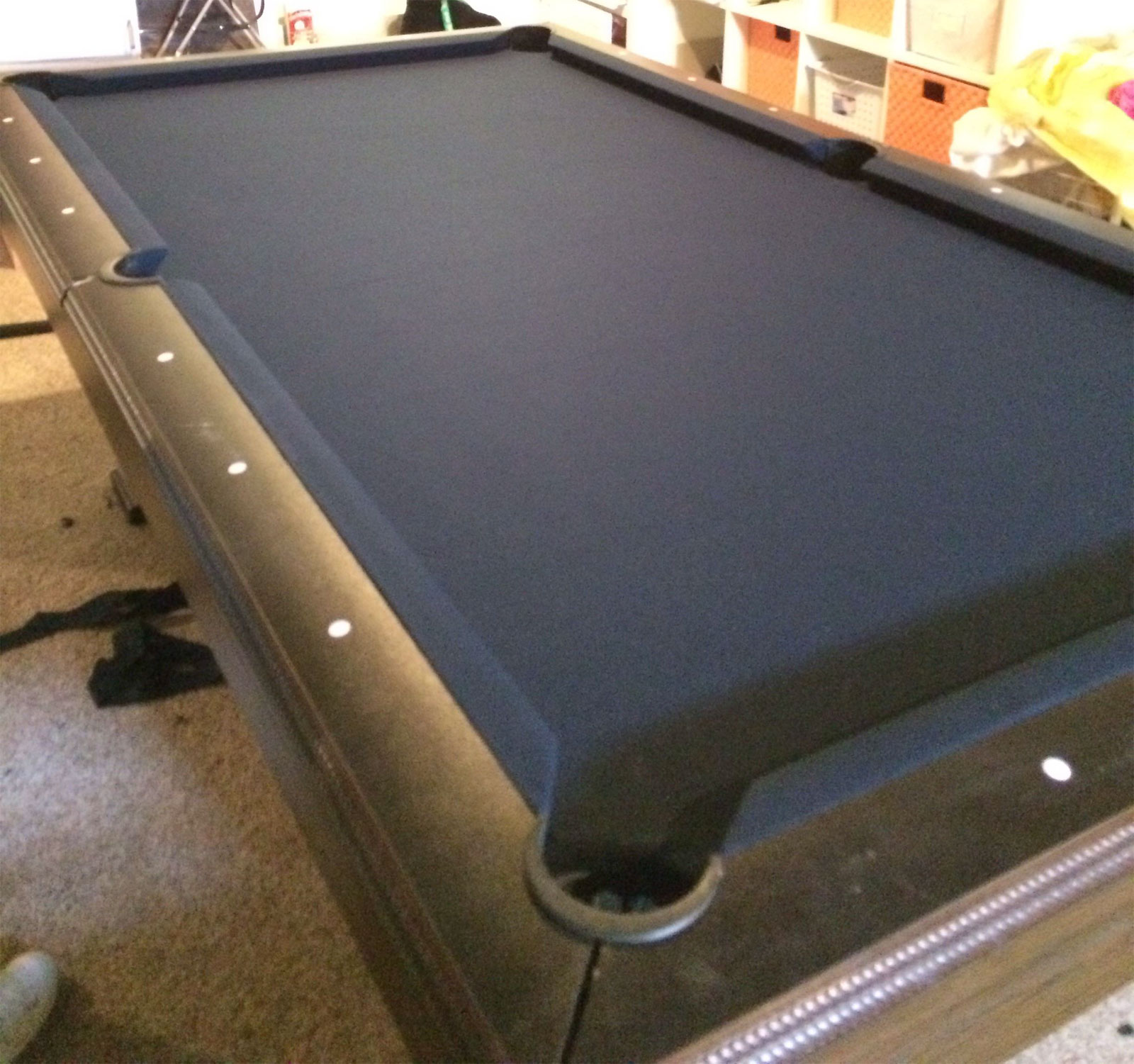 Pool Table Cloth Replacement Kit: Montgomery Ward Pool Table Installing Cloth To Slate