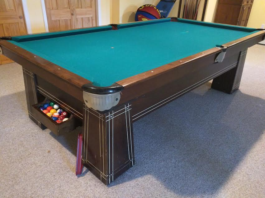 Atlantic Billiards Co pool table