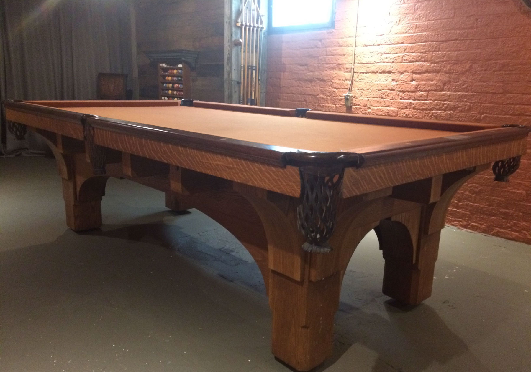 Help Identify Old Solid Wood Pool Table - Pool table help