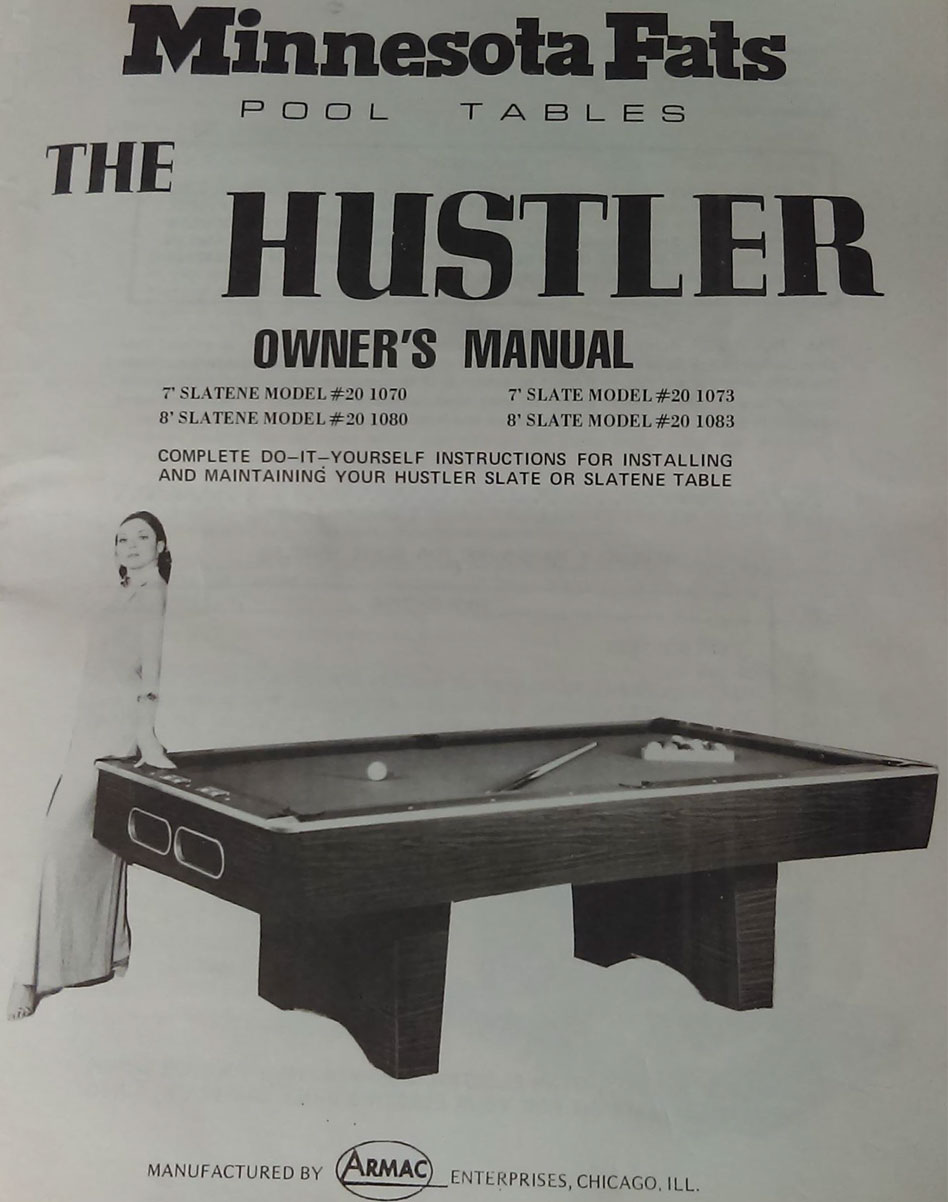 Armac Minnesota Fats The Hustler S Pool Table - Fats pool table