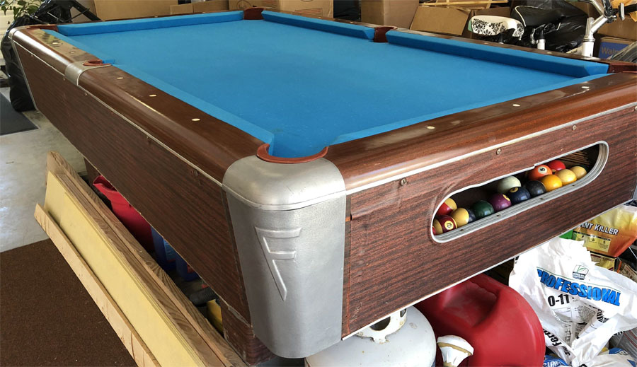 Value Of A 1963 Fischer Pool Table With 1 Piece Slate - How To Move A Slate Pool Table In One Piece