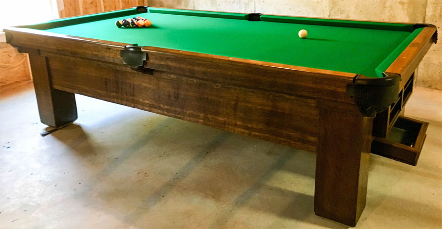 American Billiard Table Co Antique Pool Table - American pool table company