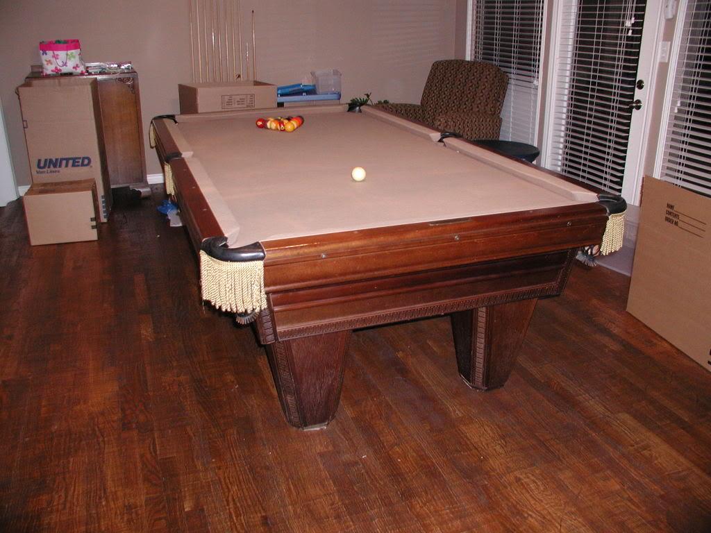 Input On A Used Brunswick Heritage Pool Table