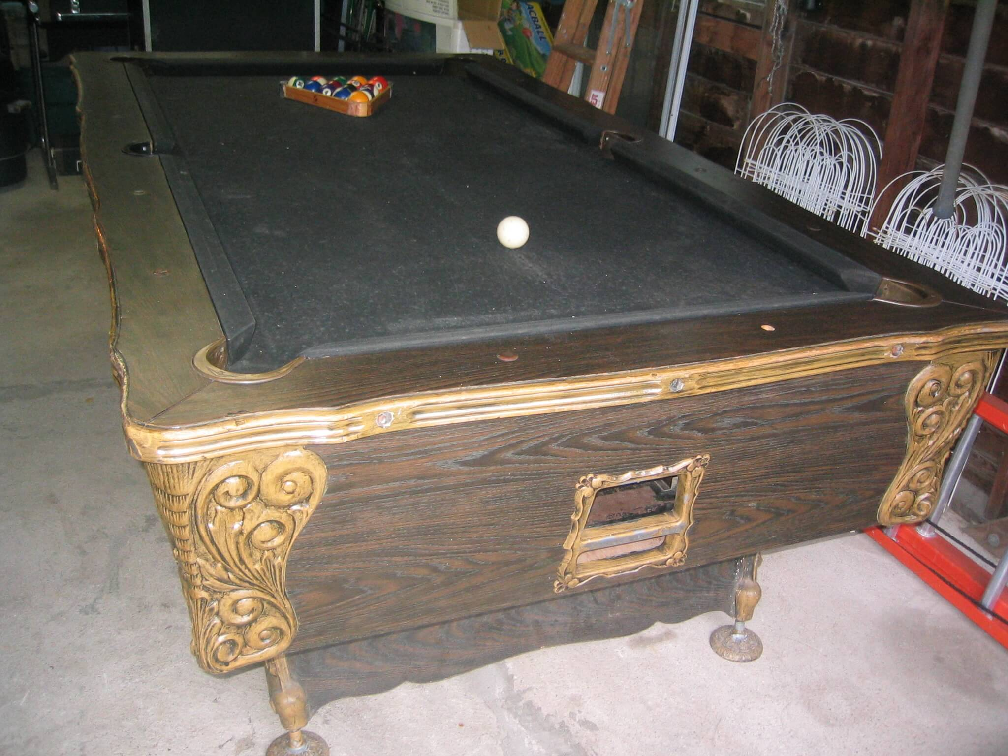 irving kaye coinop pool table. Black Bedroom Furniture Sets. Home Design Ideas