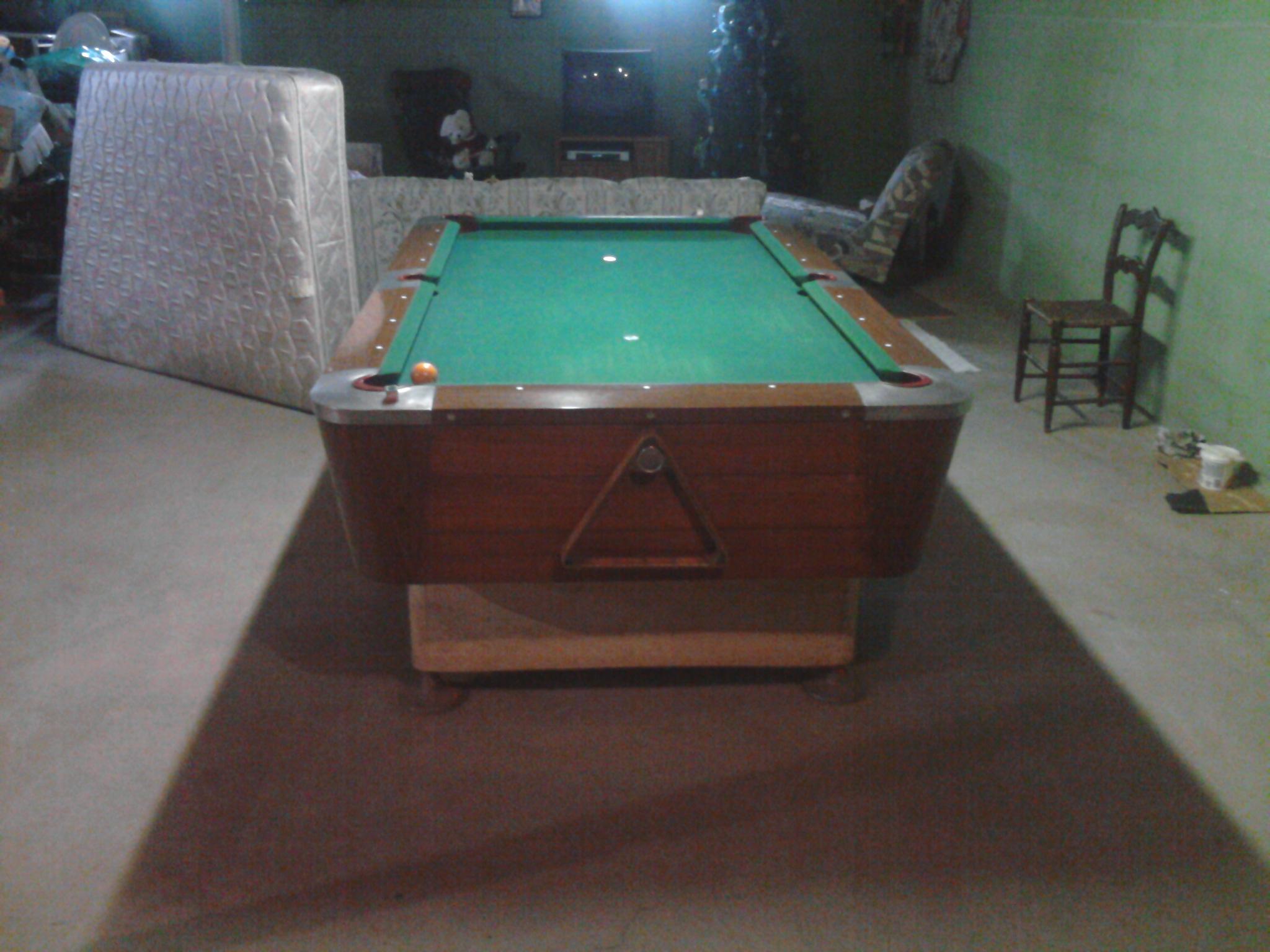 Identify this valley pool table va 6169 x for Table 52 roanoke va