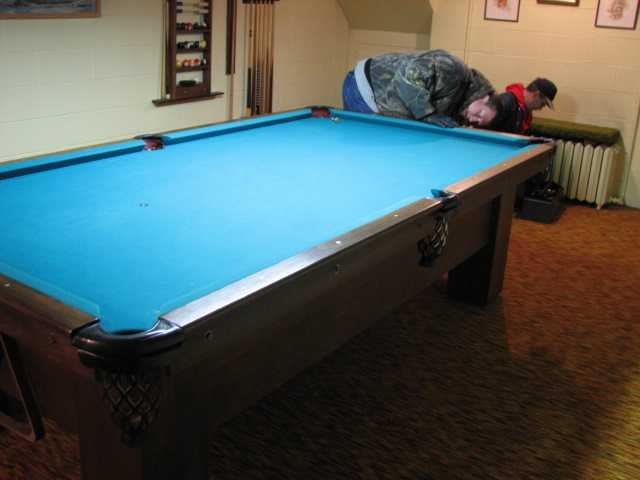 Old Schaaf Mfg Pool Table - Cue master pool table