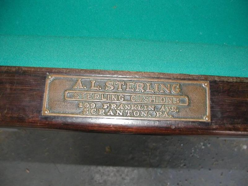 Antique Pool Table - Sterling pool table