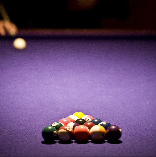 Thoughts on Purple Cloth for a Pool Table