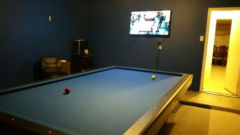 LED Pool Table Lights In My Garage Billiard Room - Pool table in garage