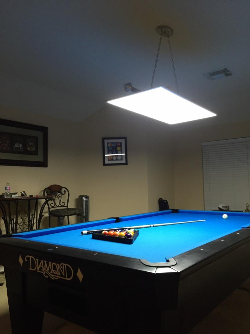 led panel lights for 7 8 9 10 ft pool and billiard tables. Black Bedroom Furniture Sets. Home Design Ideas