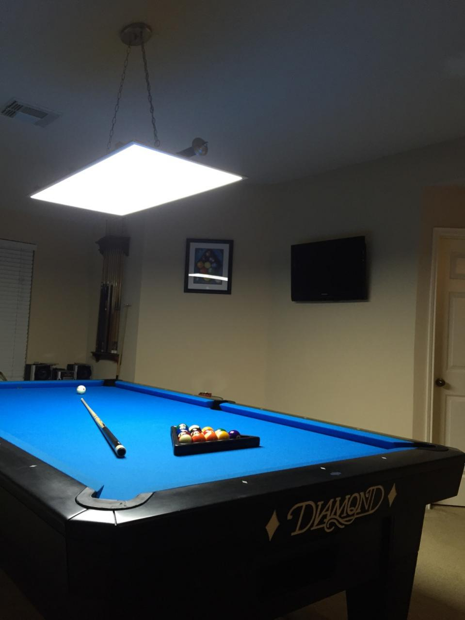led panel lights for 7 8 9 10 ft pool and billiard tables