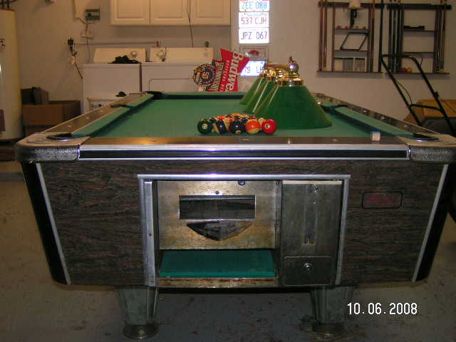 Zenith Pool Table Info - United billiards pool table coin operated