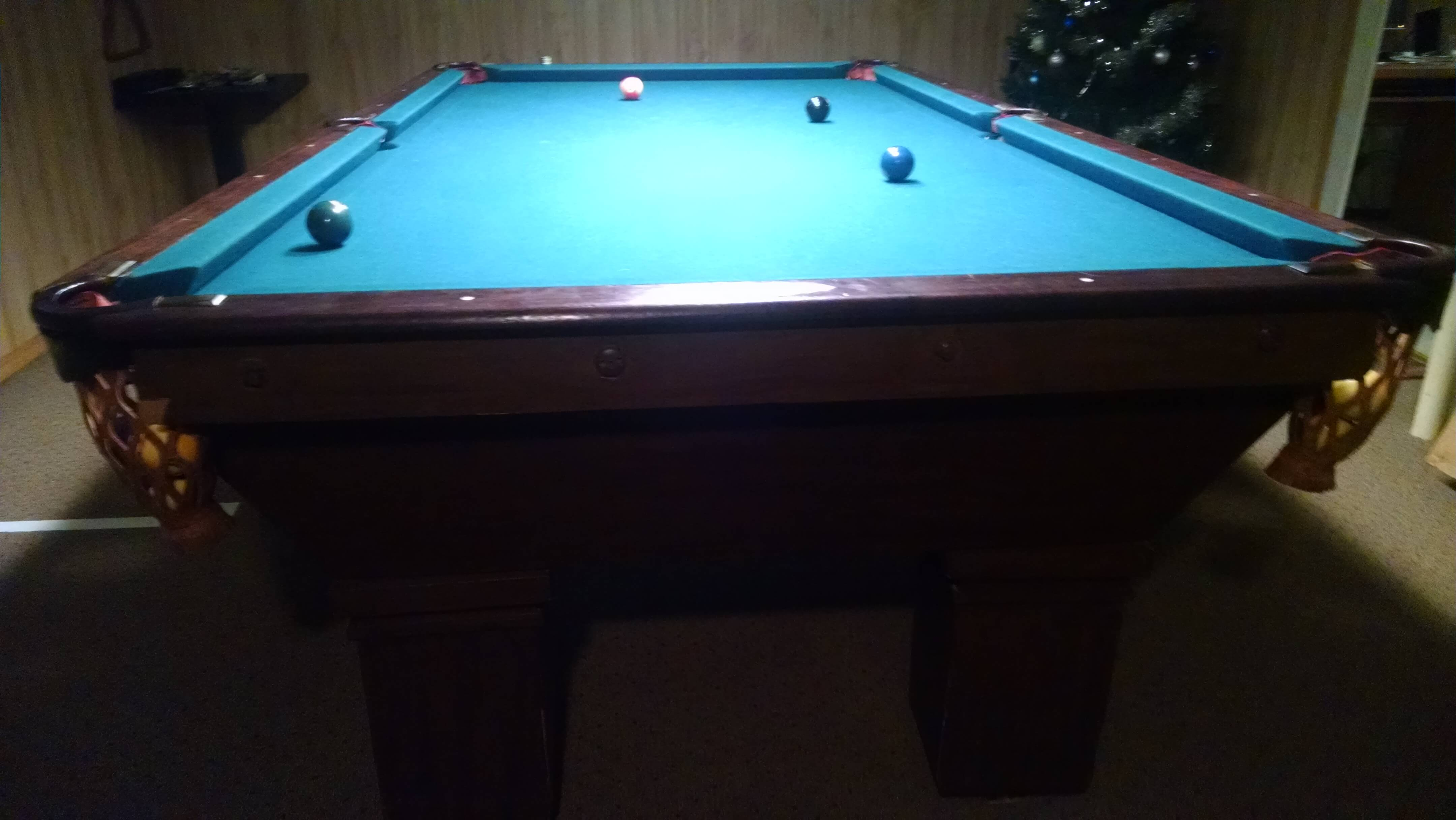 Identify an antique brunswick pool table for Brunswick pool tables