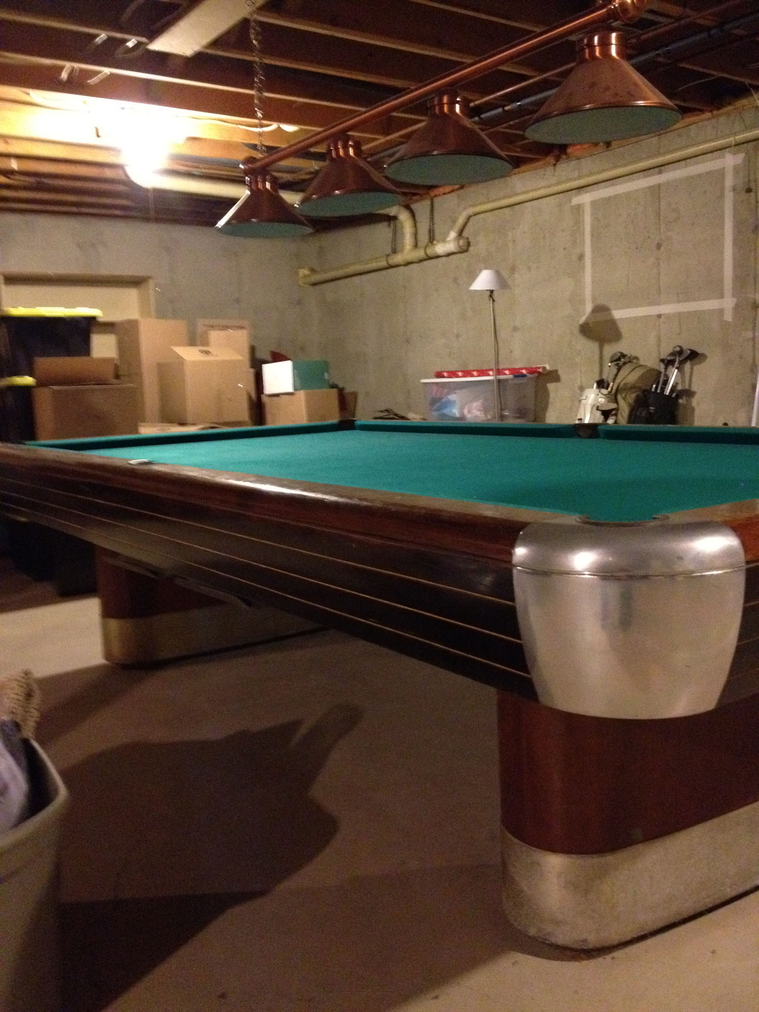 1945 1946 brunswick balke collender 10ft snooker table for