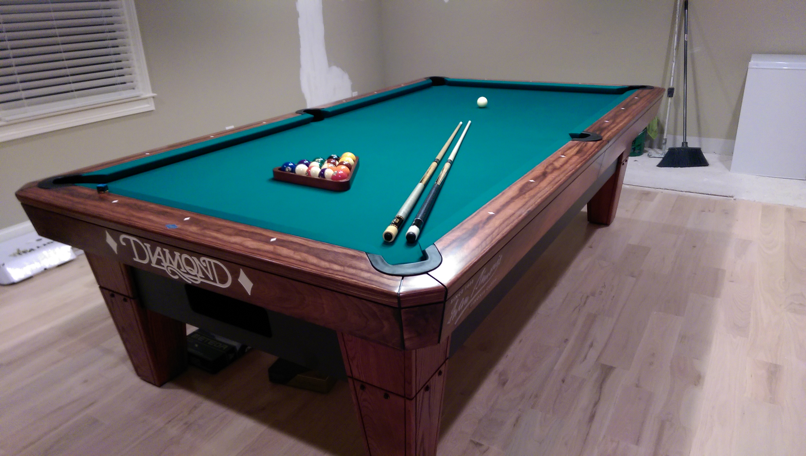 New Pool Room With A Diamond Pro Am Pool Table - Buy my pool table