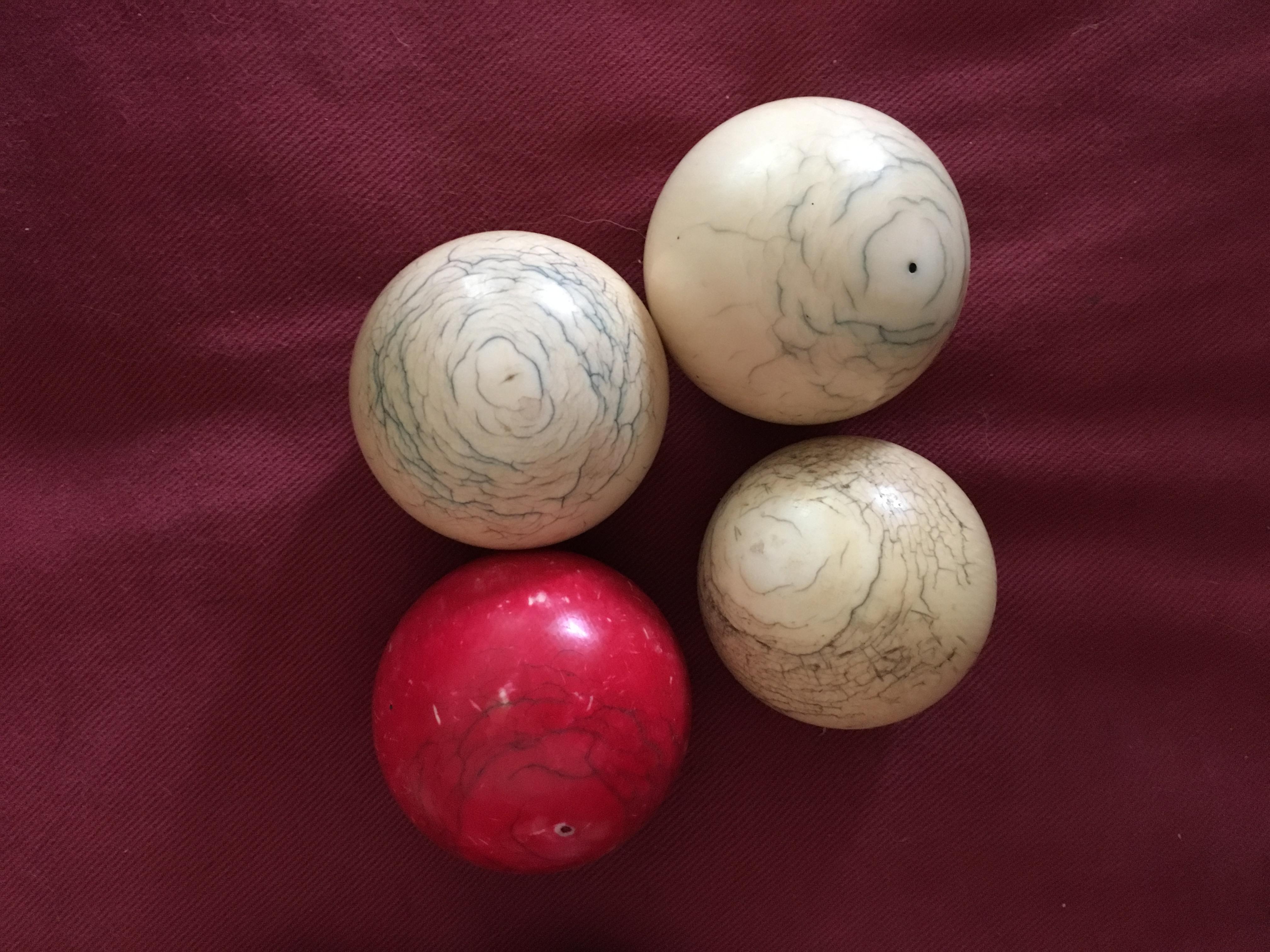 Ivory snooker balls value