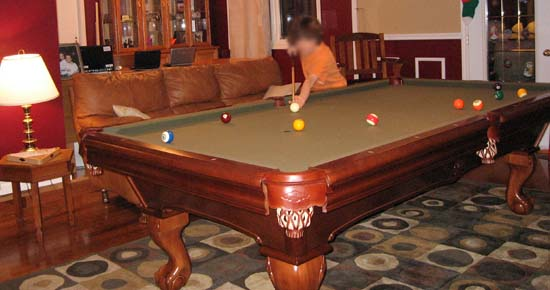 astonishing living room pool table | Living Room Conversion Into a Pool Table Room