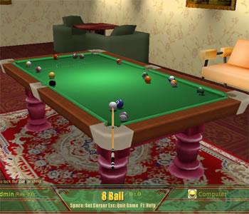 Popgamebox online 3d snooker billiard game 3d on line