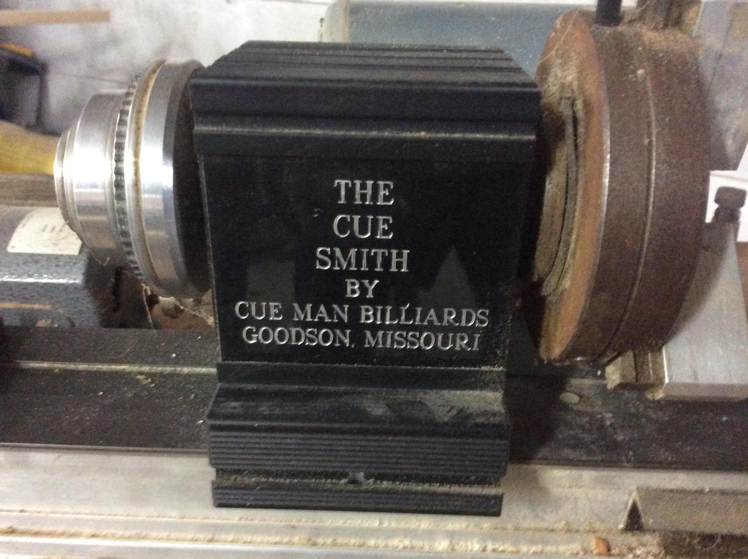 Hightower Cue Smith Cue Repair Lathe