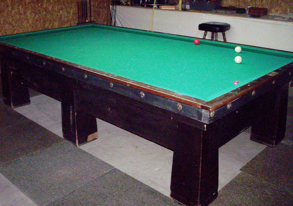 My Antique Brunswick Carom Table In My Garage