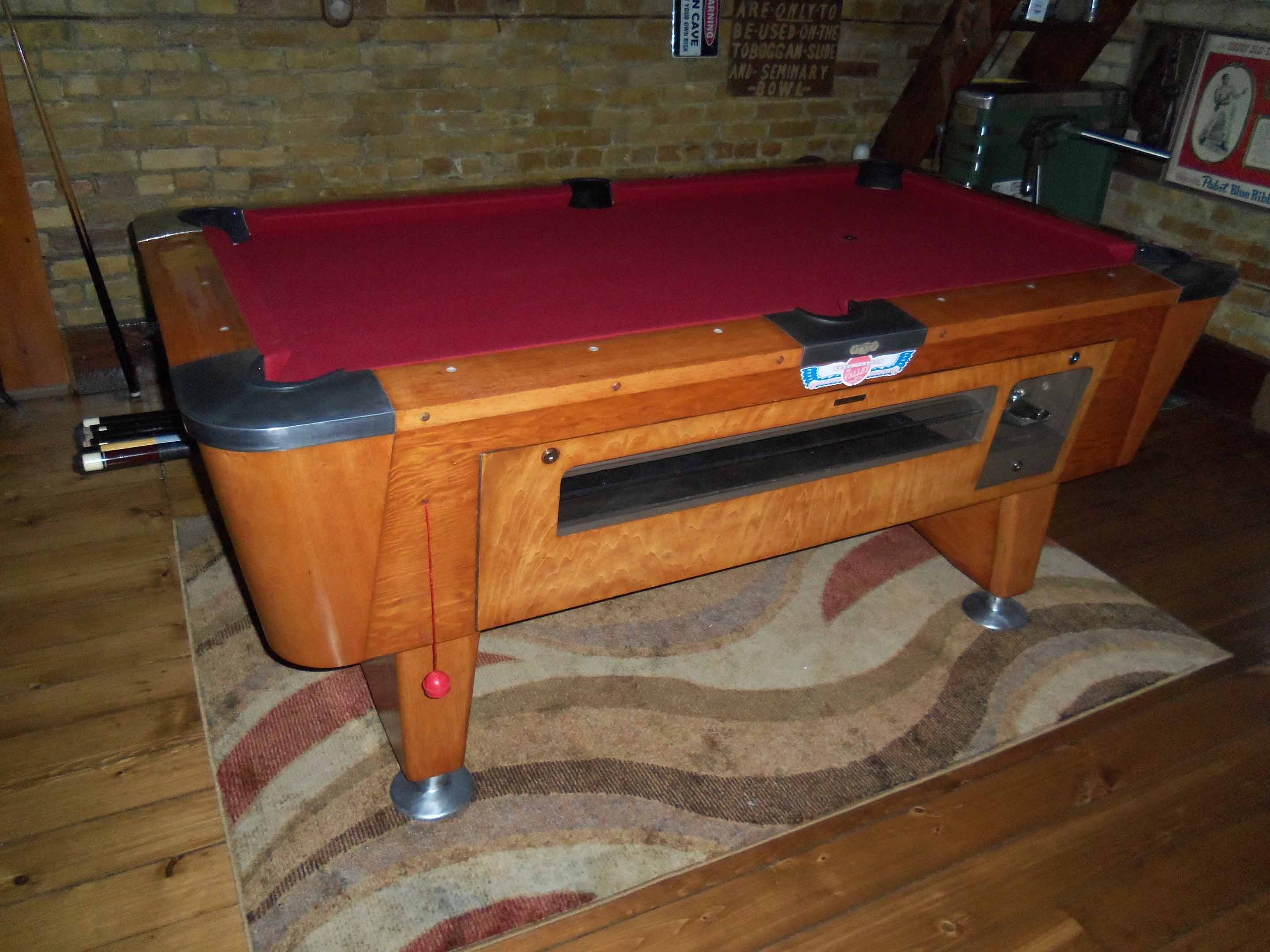 Valley Coin Op Pool Table Need Info - Valley pool table coin mechanism