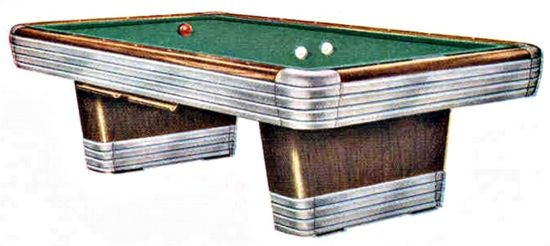 Replacement Chrome Parts For Brunswick Centennial Pool Table - Chrome pool table