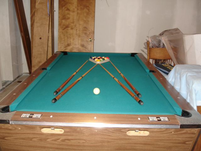Fischer Pool Table Model Number Age And Value - Fischer pool table
