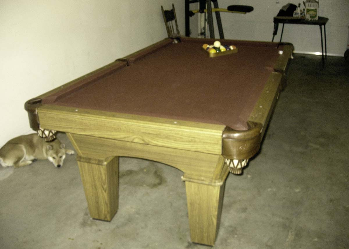 olhausen pool table for sale 1000 san francisco bay. Black Bedroom Furniture Sets. Home Design Ideas