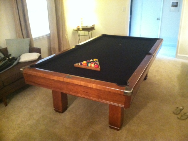 Value Of A Brunswick Hawthorn Pool Table In Charlotte Nc